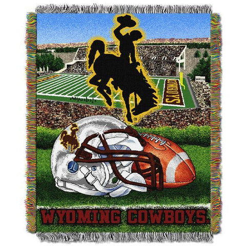 "Wyoming Cowboys NCAA Home Field Advantage 48""x 60"" Woven Tapestry Throw"