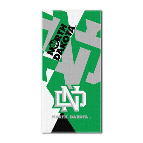 North Dakota Fighting Sioux NCAA Puzzle 34 x 72 Over-sized Beach Towel
