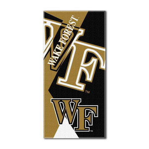 Wake Forest Demon Deacons NCAA Puzzle 34 x 72 Over-sized Beach Towel