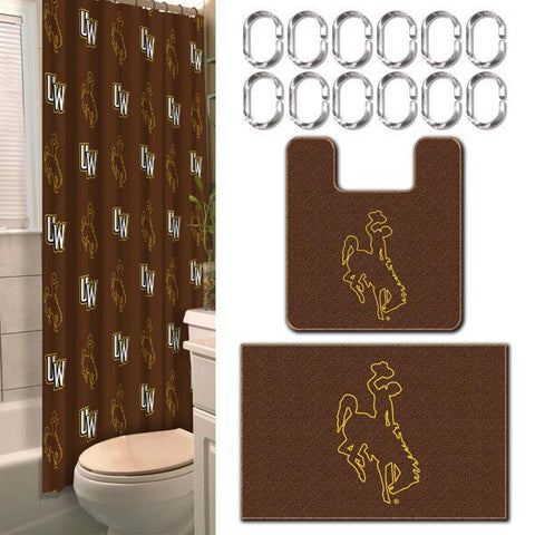 Wyoming Cowboys NCAA 15-Piece Bathroom Set