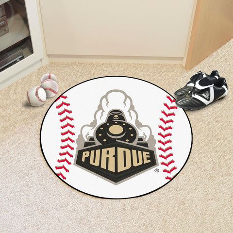 "Purdue 'Train' Baseball Mat 27"" diameter"