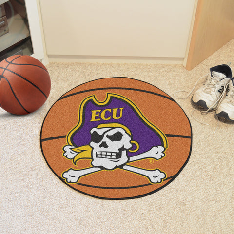 "East Carolina Basketball Mat 27"" diameter"