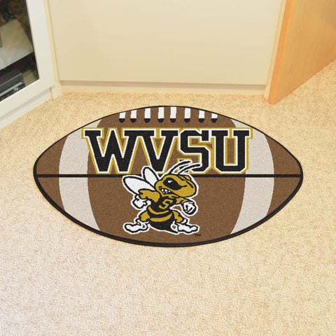 "West Virginia State Football Rug 20.5""x32.5"""
