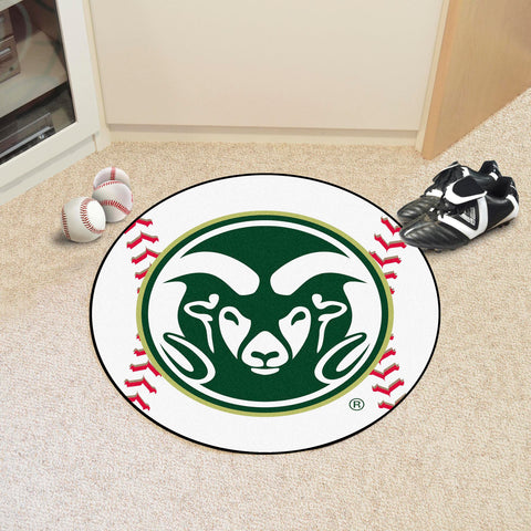 "Colorado State Baseball Mat 27"" diameter"