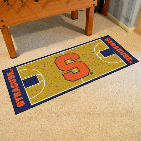 "Syracuse Basketball Court Runner 30""x72"""