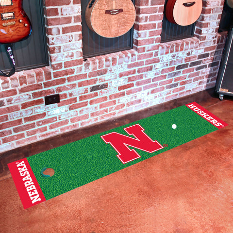 "Nebraska Putting Green Runner 18""x72"""