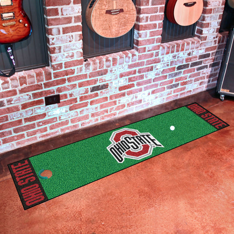 "Ohio State Putting Green Runner 18""x72"""