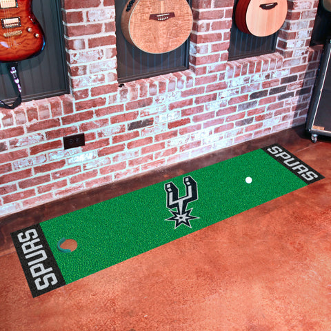 "NBA - San Antonio Spurs Putting Green Runner 18""x72"""