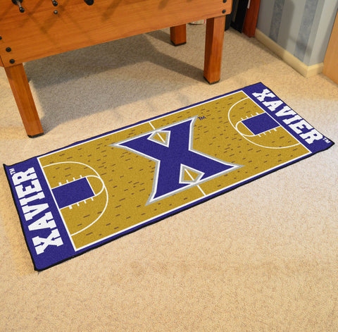 "Xavier Basketball Court Runner 30""x72"""