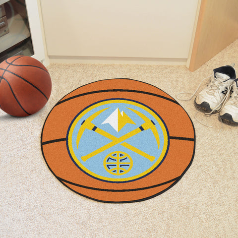 "NBA - Denver Nuggets Basketball Mat 27"" diameter"