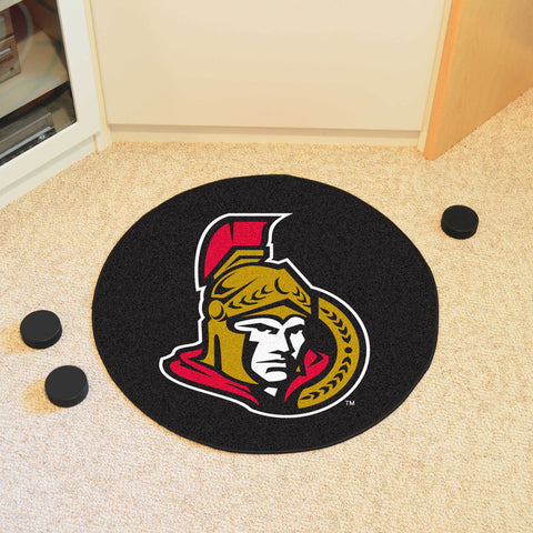 "NHL - Ottawa Senators Puck Mat 27"" diameter"