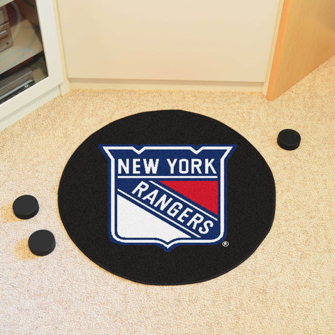 "NHL - New York Rangers Puck Mat 27"" diameter"