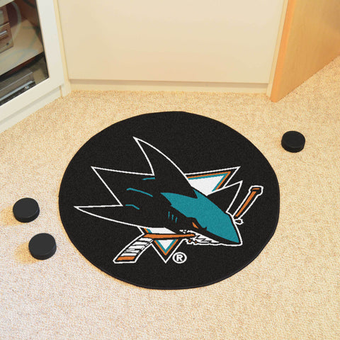 "NHL - San Jose Sharks Puck Mat 27"" diameter"