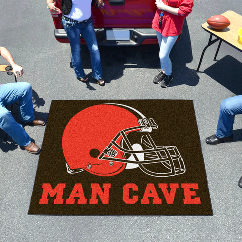 NFL - Cleveland Browns Man Cave Tailgater Rug 5'x6'