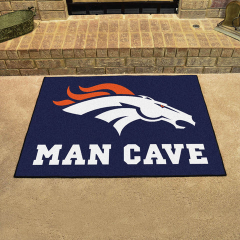 "NFL - Denver Broncos Man Cave All-Star Mat 33.75""x42.5"""