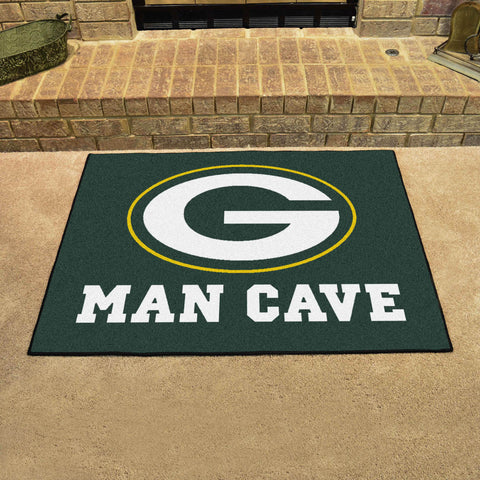 "NFL - Green Bay Packers Man Cave All-Star Mat 33.75""x42.5"""
