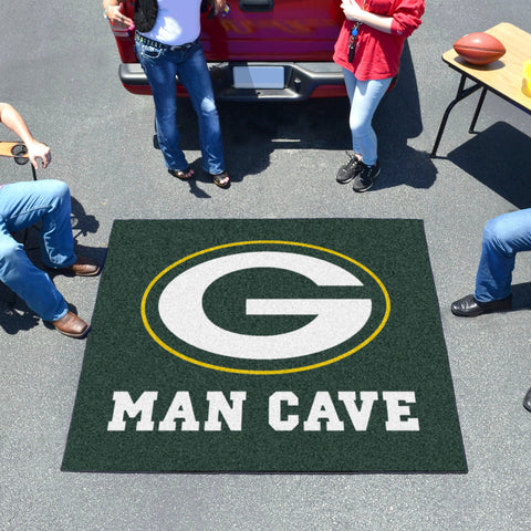 NFL - Green Bay Packers Man Cave Tailgater Rug 5'x6'