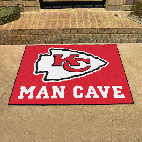 "NFL - Kansas City Chiefs Man Cave All-Star Mat 33.75""x42.5"""