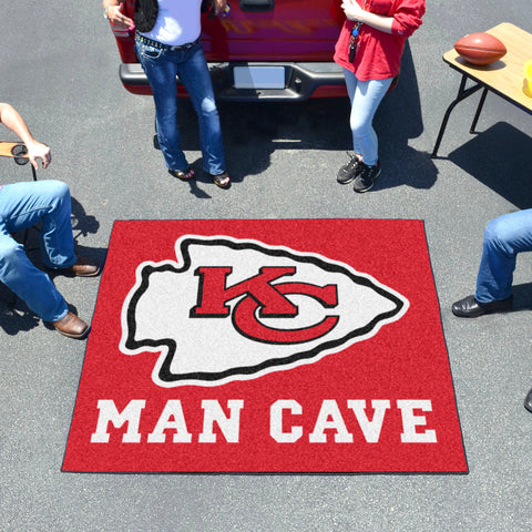 NFL - Kansas City Chiefs Man Cave Tailgater Rug 5'x6'