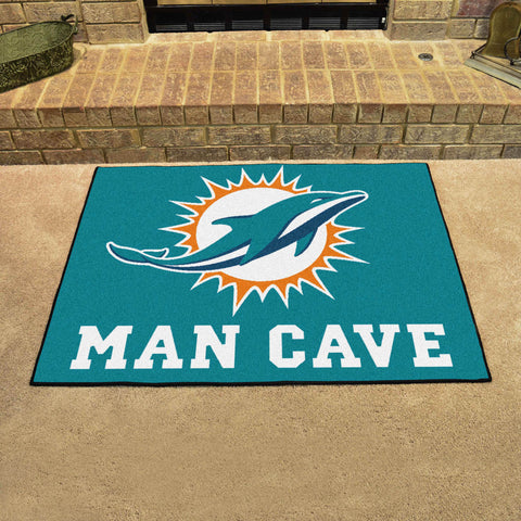 "NFL - Miami Dolphins Man Cave All-Star Mat 33.75""x42.5"""
