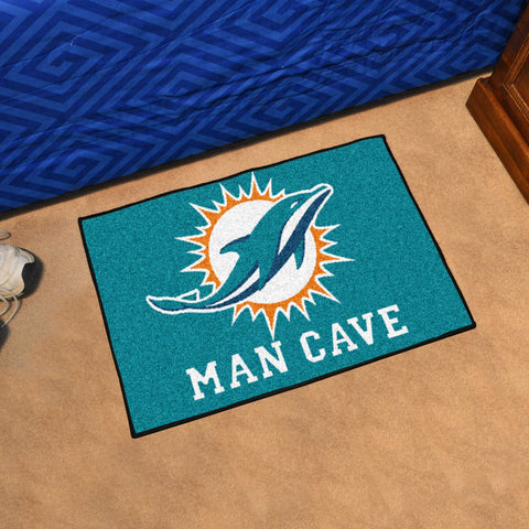 "NFL - Miami Dolphins Man Cave Starter Rug 19""x30"""