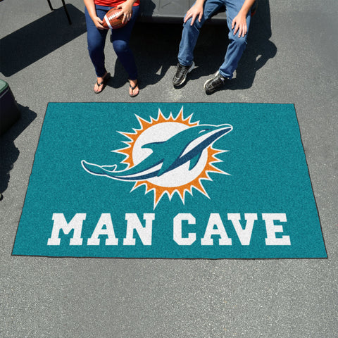 NFL - Miami Dolphins Man Cave UltiMat 5'x8' Rug