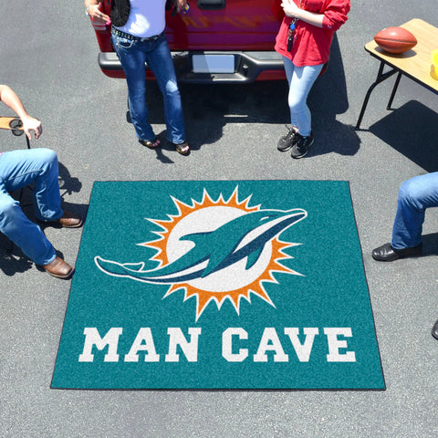 NFL - Miami Dolphins Man Cave Tailgater Rug 5'x6'