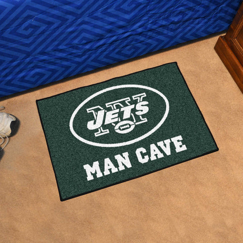 "NFL - New York Jets Man Cave Starter Rug 19""x30"""