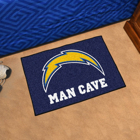 "NFL - Los Angeles Chargers Man Cave Starter Rug 19""x30"""