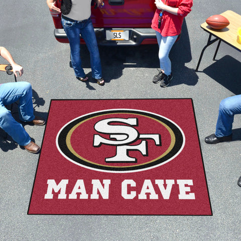 NFL - San Francisco 49ers Man Cave Tailgater Rug 5'x6'