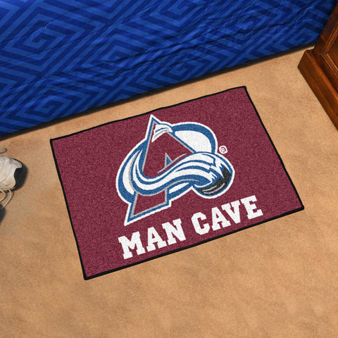 "NHL - Colorado Avalanche Man Cave Starter Rug 19""x30"""