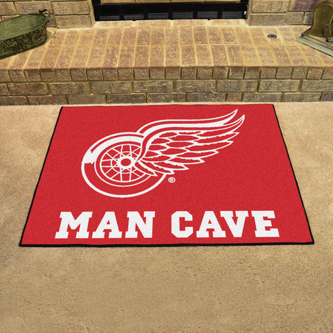 "NHL - Detroit Red Wings Man Cave All-Star Mat 33.75""x42.5"""