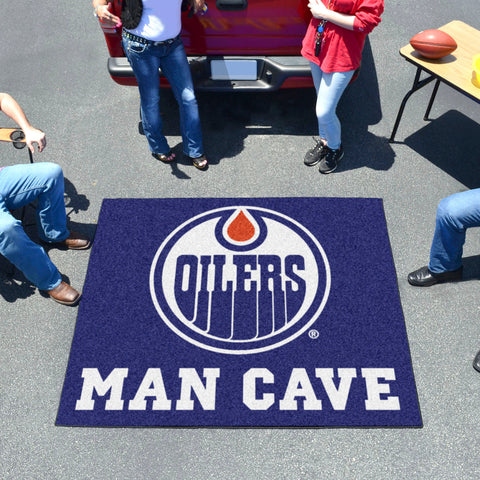 NHL - Edmonton Oilers Man Cave Tailgater Rug 5'x6'