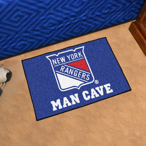 "NHL - New York Rangers Man Cave Starter Rug 19""x30"""