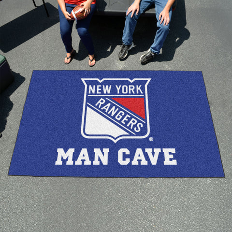 NHL - New York Rangers Man Cave UltiMat 5'x8' Rug