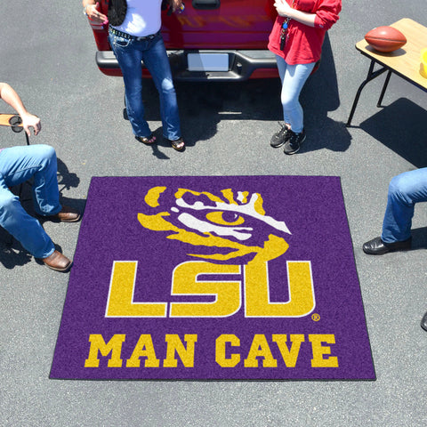 LSU Man Cave Tailgater Rug 5'x6'