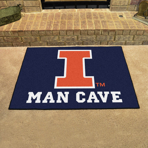 "Illinois Man Cave All-Star Mat 33.75""x42.5"""