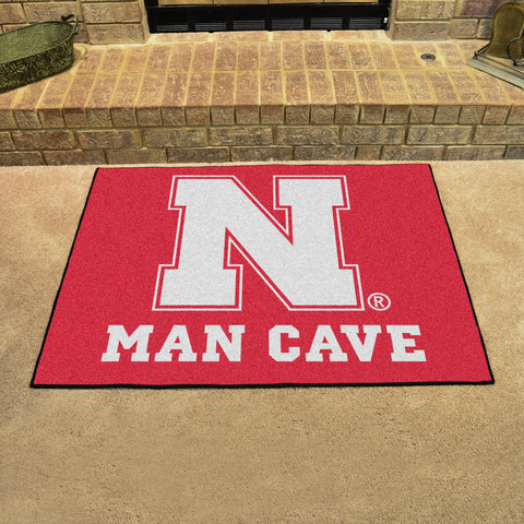 "Nebraska Man Cave All-Star Mat 33.75""x42.5"""