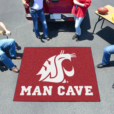 Washington State Man Cave Tailgater Rug 5'x6'