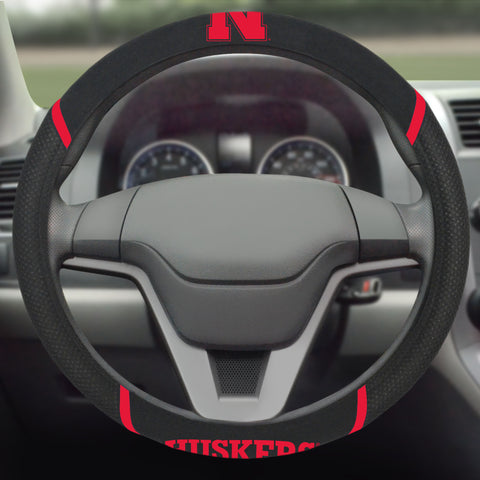 "Nebraska Steering Wheel Cover 15""x15"""