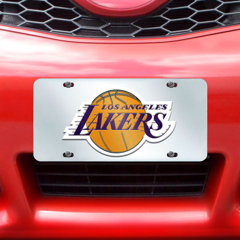 "NBA - Los Angeles Lakers License Plate Inlaid 6""x12"""