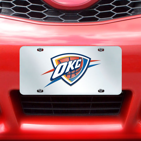 "NBA - Oklahoma City Thunder License Plate Inlaid 6""x12"""