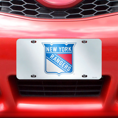 "NHL - New York Rangers License Plate Inlaid 6""x12"""
