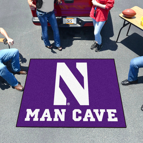 Northwestern Man Cave Tailgater Rug 5'x6'