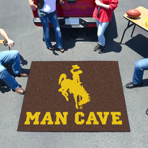 Wyoming Man Cave Tailgater Rug 5'x6'