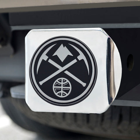 "NBA - Denver Nuggets Chrome Hitch Cover 4 1/2""x3 3/8"""