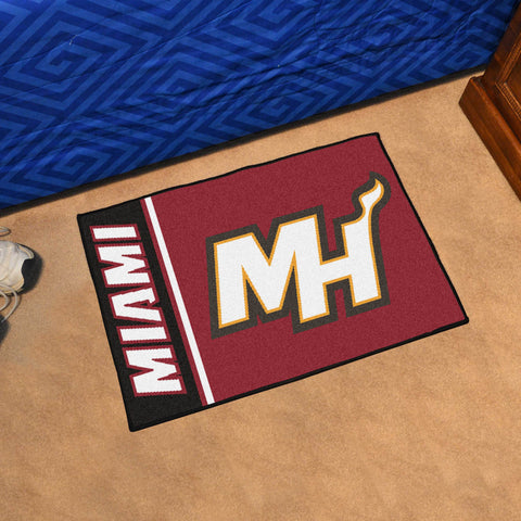 "NBA - Miami Heat Uniform Starter Rug 19""x30"""