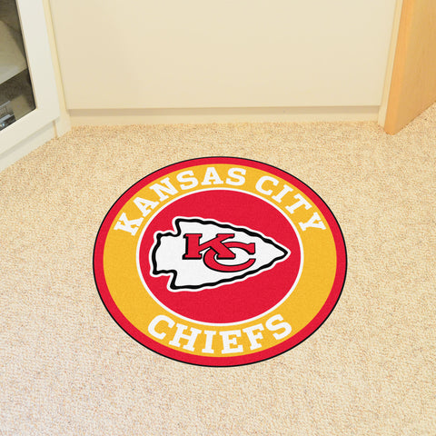 "NFL - Kansas City Chiefs Roundel Mat 27"" diameter"