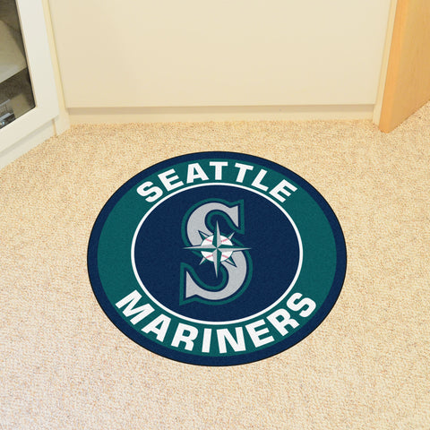 "MLB - Seattle Mariners Roundel Mat 27"" diameter"