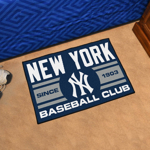 "New York Yankees Baseball Club Starter Rug 19""x30"""